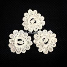 Heart shape Cotton floral chemical lace ornament