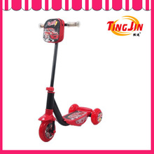 mini kick scooter - neon pink with t-bar