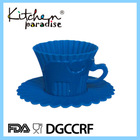 2014 Top Seller Silicone Teacup Cupcake Molds