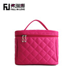 Quilted pattern high quality cheap women beauty handbag make up kit bag for ladies travel cosmetic bag