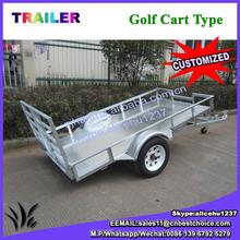 Hot dipped galvanized 8x5 cage trailer/box trailer/car trailer