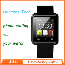 New concept for u8 bluetooth watch with pedometer