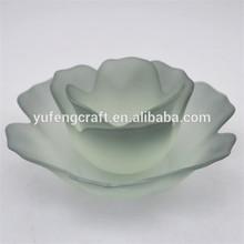 lotus flower glass votive holder tea light holders