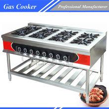 Commercial gas range/gas cooking range/8 burner commercial cooking range