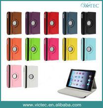 Wholesale PU Leather Stand 360 Rotating Case for iPad mini/ iPad mini 2