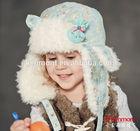 kids winter hat/Cheap Fleece Earflap Knitted Kids Winter Hat/earflap hat