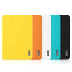 ROCK elegant series Anti-Dust Magnetic Smart Fashion PU Cover Stand Case For iPad mini 2