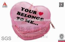 Fancy Pink Heart shape eva coin purse