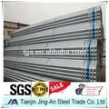 Tubo de acero galvanizado precio bs1387/gb/t3091/astm a53 empresa tianjin