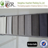 100% polyester slubbed curtain fabric with 3 pass pa coating on the back