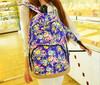Popular girls floral canvas backpack canvas rucksack personalized rucksack