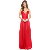 Women Luxury Fashion Deep V Backless Long Party Dress for Wholesale Haoduoyi