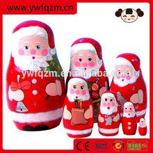 Wooden Delicate Christmas Matryoschoka Dolls For Present