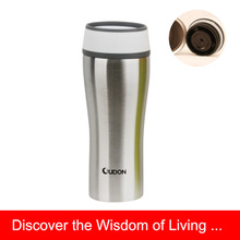 400ml Stainless Steel Travel Mug With Plastic Lid