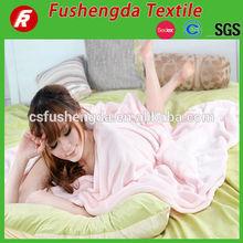 handmade baby blankets with plush lamb and sleeves KSSG-BBK006