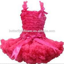 Sweet Girl Super Fluffy Dark Pink Pettiskirts & Lace Tank Top Set Vintage Pink Pettiskirt Christmas Chiffon pettiskirts tutu