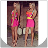 fuchsia hl bandage bodycon sexy party dresses for girls new