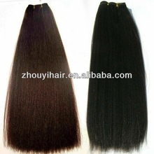 Wholesale pure Peruvian yaki colors virgin hair weft in stock
