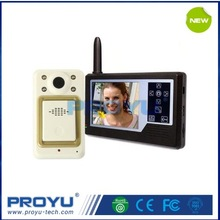 2.4G all-digital frequency 3.5 inch colorful LCD Wireless Video Door Phone for apartment home office PY-3501B