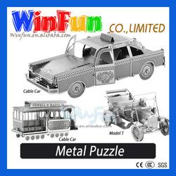 DIY 3D Metal Puzzle Checker Cab Puzzle Toy
