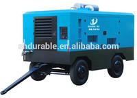 Four Wheels Cummins Engine Portable Air Compressor for Highland