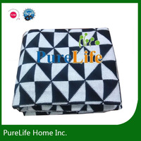 Black and white triangle knit Blankets & Throws