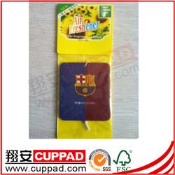 New arrival,nation flag logo paper car air freshener ,blackberry scent