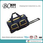 polyester polo travel bag waterproof wheeled duffle bag