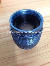 Blue color New design 35mm lens F1.7 manual iris c mount cctv camera lens