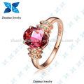 tourmarline 18k zhanhao 2.00ct الوردي والمجوهرات خاتم الماس مع الذهب روز