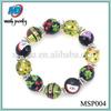 Latest fashion strawberry hand painted 7.5'' charm 2014 lucky bead bracelet MSP004