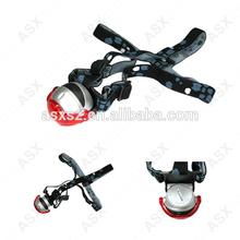 5 bulbs LED headlight Rotatable Bike Head light movable Red Lens led head light
