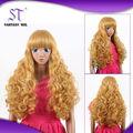 2014 moda calor- resistente cabelo sintético para bonecas para lojas de venda
