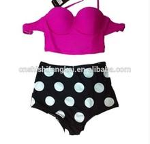 polka dot high waist bikini swimwear swimsuit bathing suit beachwear