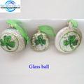 flor de color verde decorado vintage gris de vidrio de navidad bolas de venta al por mayor fabricante de shenzhen