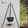 camping tripod grill with cast iron pot/Dutch oven