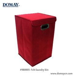 Bathroom storage-- Folding laundry bin w/felt finish