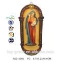 Resina manualidades religiosas estatua de la virgen maría de la decoración