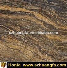 Tropical Bronze Granite, silver yellow granite slab