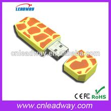 giraffe usb flash drive wholesale secret key for Christmas gift bulk cheap full capacity 1GB 2GB 4GB 8GB 16GB 32GB