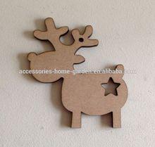 REINDEERS & Star - 9cm- Xmas Wooden MDF Blanks Christmas Craft Gift Tags