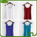 Personalizado moda 100% plain algodão mulheres top, custom mulheres tops
