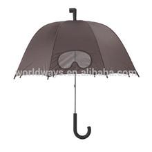 NU-100 Korea Style Newest Design Straight Umbrella with one Transparent Window Umbrella