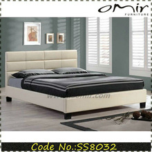 white king size leather bed for sale SS8032