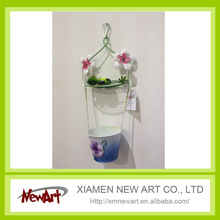 Wall art of frog hanging pot wall decoration pottery