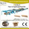 3-Layer corrugated cardboard making machine RYSX-3