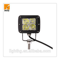 HG-8953 12W 3'' Squre High Brightness Cree LED Work Light for Motorcycle 3D Reflector