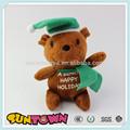 Natal urso de pelúcia brinquedos, presente de natal, urso de pelúcia macia brinquedos de pelúcia