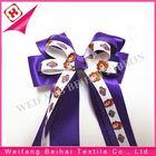 rainbow/ printed /custom handmade ribbon bow tie