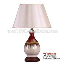 Accueil salon petite lampe de table décorative en poterie